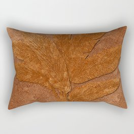 Copper Look Banana Plant Rectangular Pillow