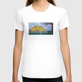 yellow vw beetle T-shirt