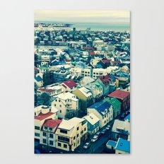 Retro Reykjavik - Iceland Canvas Print