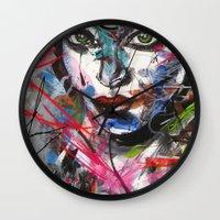 third eye Wall Clocks featuring third eye by yossikotler