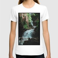 alaska T-shirts featuring Alaska Waterfall by Leah Flores