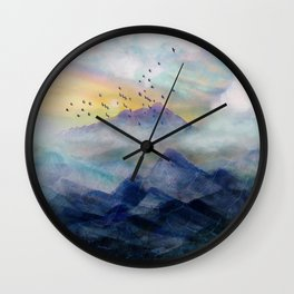 Mountain Sunrise Wall Clock