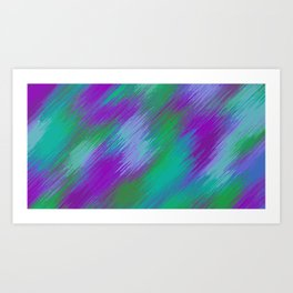 purple green and pink painting texture abstract background Art Print