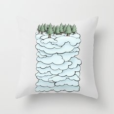 Treeclouds Throw Pillow