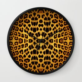 Leopard Print - Rust Wall Clock