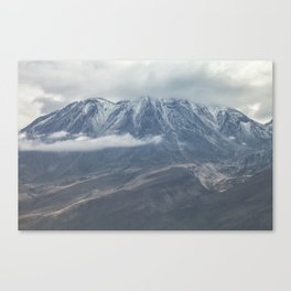 Close up view of volcano Chachani Canvas Print