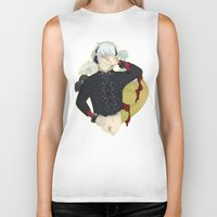 dmmd Biker Tanks featuring Dive into DMMd Clear by Collette Ren