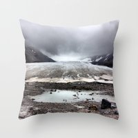 lee pace Throw Pillows featuring Glacial Pace by MARLER MADE