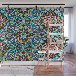 Traditional ceramic tile design Portugal Terrazzo Blobs Wall Mural