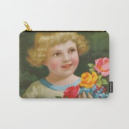 Child with roses | Kind mit Rosenstrauss Carry-All Pouch