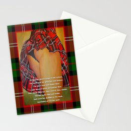 The Dancers Quick and Quicker Flew Burns Supper Stationery Cards