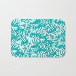 Palm Leaves_Teal Bath Mat