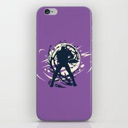 Black Japanese Ninja Warrior Fantasy Silhouette iPhone Skin