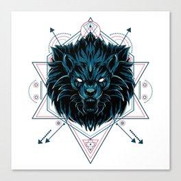 The Wild Lion sacred geometry Canvas Print