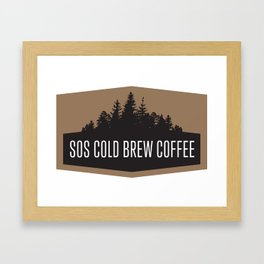 SOS Coldbrew Vintage Advert Framed Art Print
