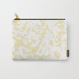 Spots - White and Blond Yellow Carry-All Pouch