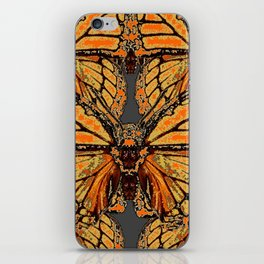 RUSTY-ORANGE CREAMY MONARCH BUTTERFLIES ABSTRACT iPhone Skin