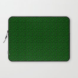 Binary Green Laptop Sleeve