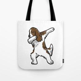 Funny Dabbing English Springer Dog Dab Dance Tote Bag