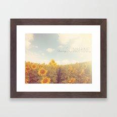 Bohemian Sunflowers Framed Art Print