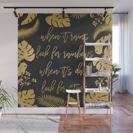 When It Rains Wall Mural
