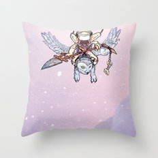 Snow Troll Throw Pillow