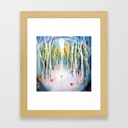 Deep In The Birch Forest Framed Art Print