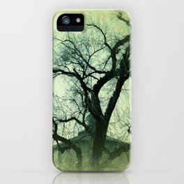Vintage Textured Trees Of Hope iPhone Case