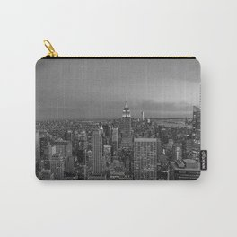 Manhattan sunset. Black and white photo Carry-All Pouch