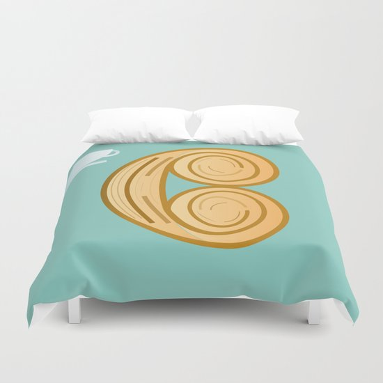 C for cool breakfast Duvet Cover