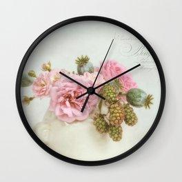 roses & berries N°4 Wall Clock