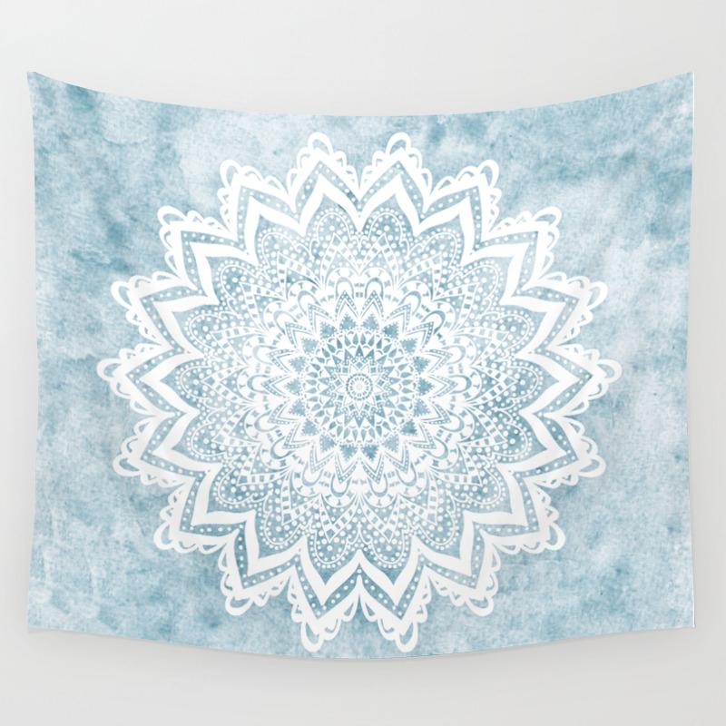 Light Blue Mandala Savanah Wall Tapestry By Nika Society6