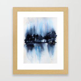 Blue Tree Reflections Framed Art Print