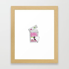 90s Bubble Beeper Chewing Gum with Gothic Nails Framed Art Print