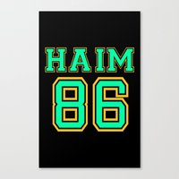 haim Canvas Prints featuring HAIM 86 by it's haim time