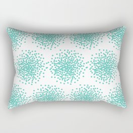 Abstract bright turquoise dotted background Rectangular Pillow