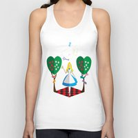 alice in wonderland Tank Tops featuring Wonderland by AmadeuxArt