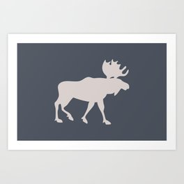 Moose (Lakeside) Art Print