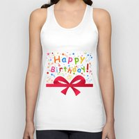 birthday Tank Tops featuring Birthday by aleksander1