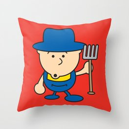 Ooh Zoo – farm-series, Farmer Throw Pillow