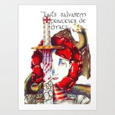 Sant Jordi Art Print