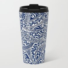 Hawaiian tribal pattern III Metal Travel Mug