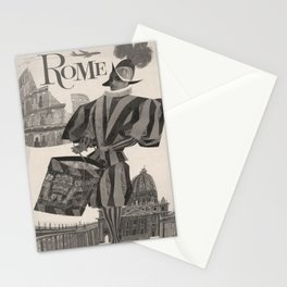 old placard Rome voyage poster Stationery Cards
