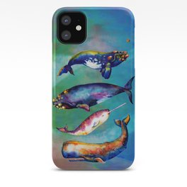 Whale Pyramid #3 - Watercolor Whales iPhone Case