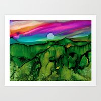 Abstract Landscape Painting  Art Print