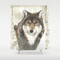hunter Shower Curtains featuring Hunter by Tonya Butcher