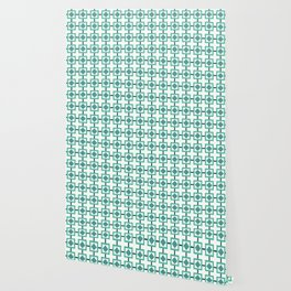 BOXED IN, TURQUOISE Wallpaper