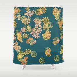 teal spring blast Shower Curtain