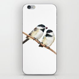 Black Capped Chickadees iPhone Skin