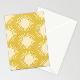 Golden Sun Pattern III Stationery Cards